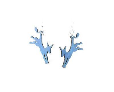 Democratic donkey wood earrings
