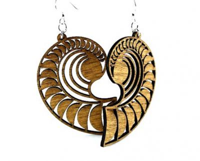 Cinnamon shell wood earrings
