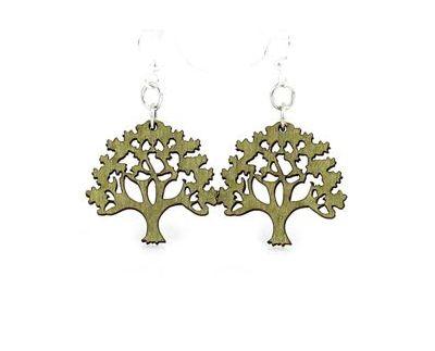 Oak tree earrings