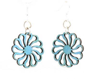 pin wheel wood earrings