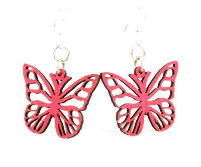 rose butterfly blossom earrings