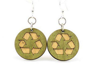 recycle wood earrings