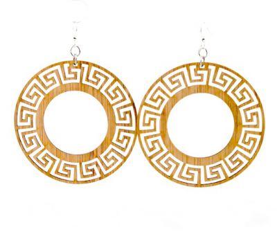 989 circle bamboo earrings