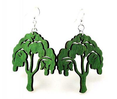 Tree of life wood earrings