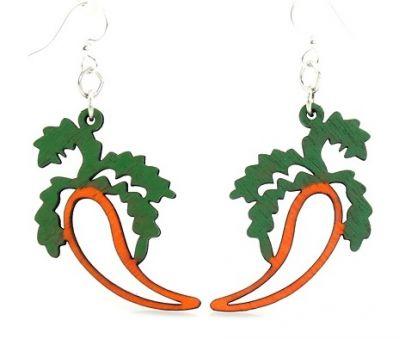 Carrot wood earrings