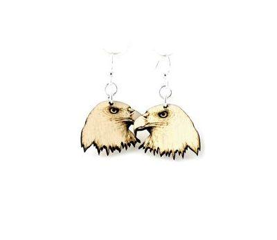 eagle wood earrings