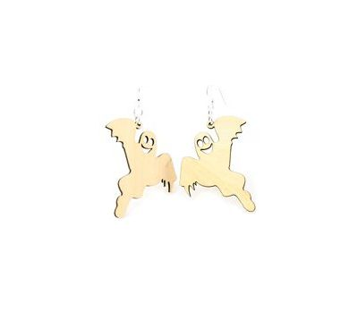 ghost wood earrings