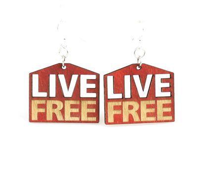 live free wood earrings