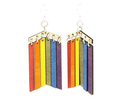 Pride wood earrings