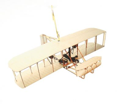 wright brothers airplane wood ornament