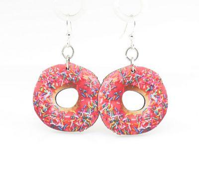 doughnut wood earrings