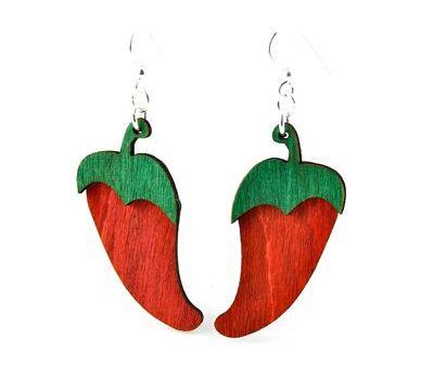 pepper wood earrings