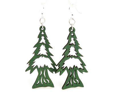 kelly green pine tree earrings