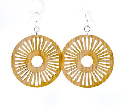 983 tribal sun bamboo earrings