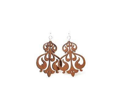 Cinnamon rorschach ink design earrings