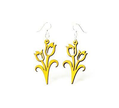 Lemon Yellow Wood Earrings
