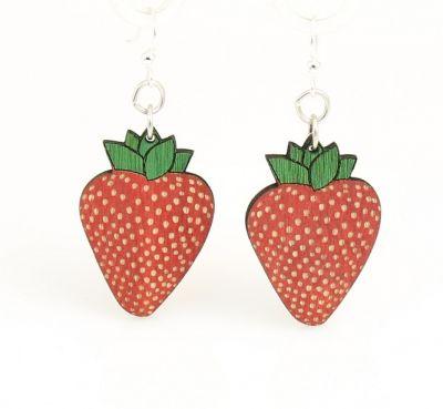strawberry wood earrings