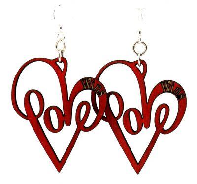 Love wins wood earrings