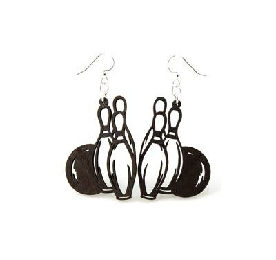 Bowling pall and pin earrings