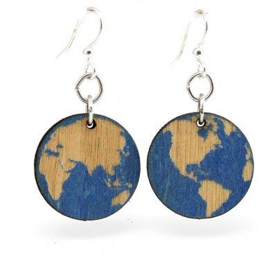 Earth wood earrings