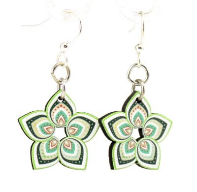mandy greenly blossom wood earrings