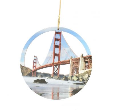 Golden Gate Bridge Wood Ornament