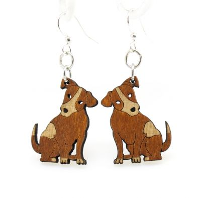 Cinnamon Puppy Wood Earrings