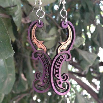 Earrings shown in color Purple