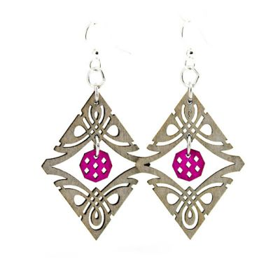 natural wood tribal charm wood earrings