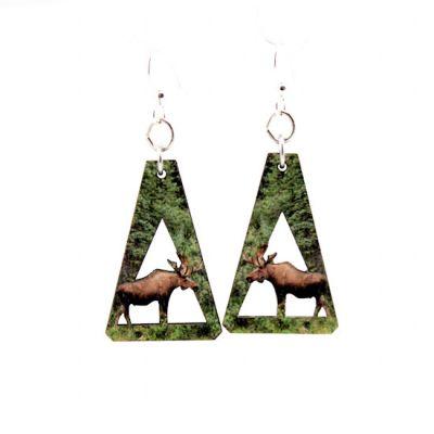 Moose wood earrings