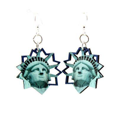 swallowtail butterfly wood earrings