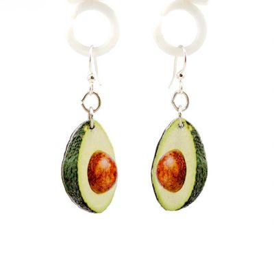 avocado wood earrings