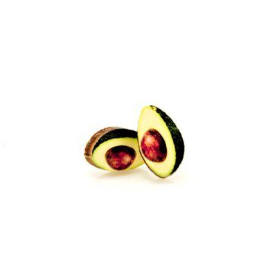 avocado stud wood earrings