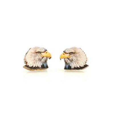 eagle stud wood earrings