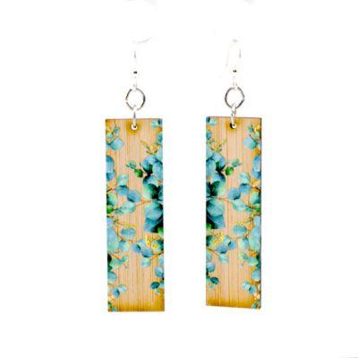 977 eucalyptus bamboo earrings