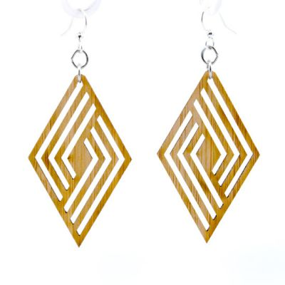 992 rhombus bamboo earrings