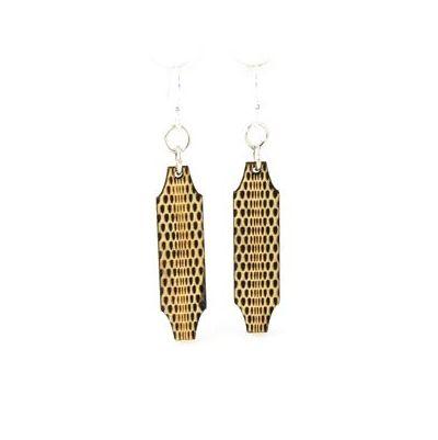 optical illusion wood earrings