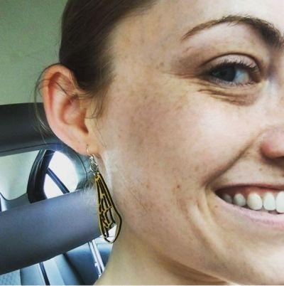 Earrings shown in color Lemon Yellow