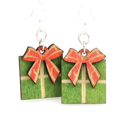gift box wood earrings