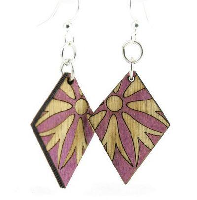 violet diamond blossom earrings
