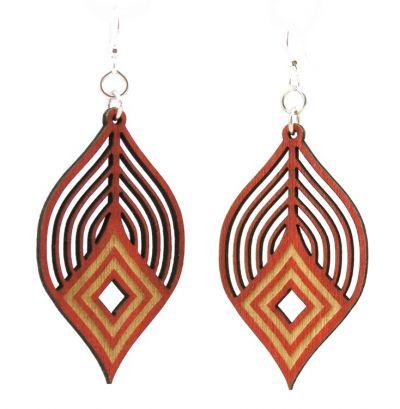 fanning diamond wood earring