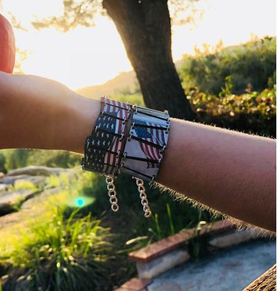 Be sure to check out the other patriotic bracelet in this photo with the link in the description!