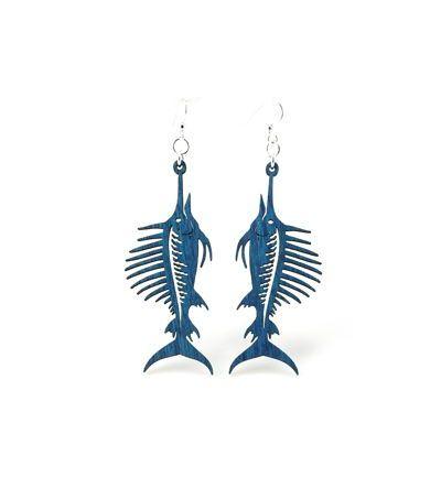 royal blue sword fish earrings