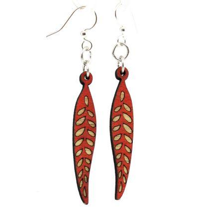 seed pod blossom wood earrings