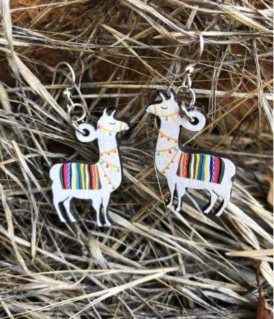 Lifestyle photo - Llama earrings