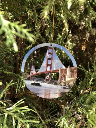 Golden Gate Bridge Ornament Lifestyle Photo