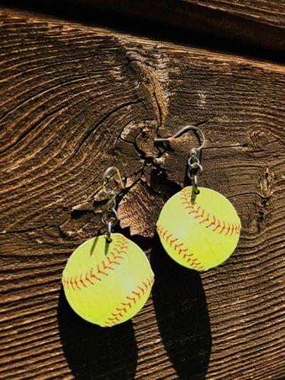 Lifestyle photo - Softball earrings