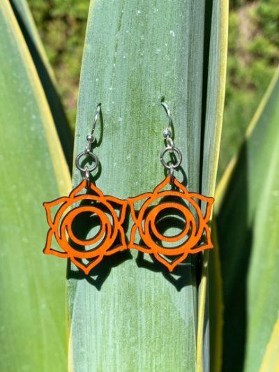 svadhishthana chakra wood earrings
