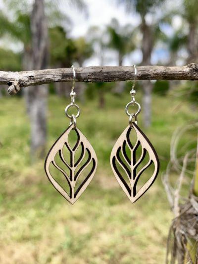 raffia blossom earrings