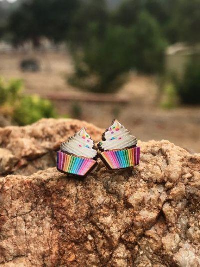 Lifestyle photo - Cupcake studs